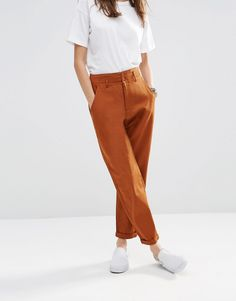 Image 4 of ASOS High Waisted Peg Trousers