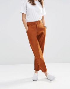 Image 4 ofASOS High Waisted Peg Trousers