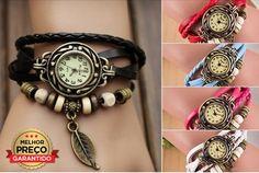 Um toque diferente no seu pulso!Relógio Estilo Vintage!