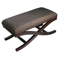 Found it at Wayfair - Large Upholstered Cocktail X-Leg Bench