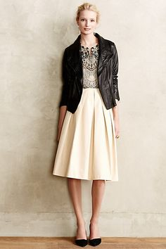 Pleated Vegan Leather Skirt - anthropologie.com