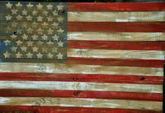 hand made distressed flag made by www.facebook.com/laureltreedsign