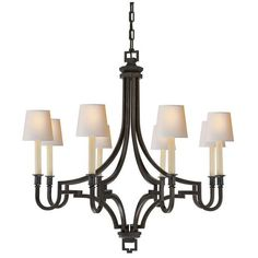 Visual Comfort Lighting E.F. Chapman Mykonos 8 Light Chandelier