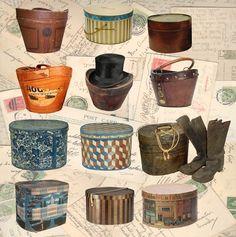 Men's Hat Boxes #millinery #judithm #hats