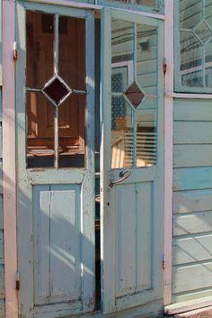Porvoo, Finland Old Houses, Wooden Houses, Stairways, Old Town, Scandinavian, Aqua, Turquoise, Outdoor Structures, Exterior