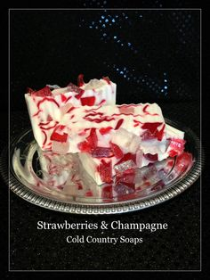 Your place to buy and sell all things handmade Soap Melt And Pour, Strawberry Champagne, Bath Soap, Glycerin Soap, Handmade Soaps, Soap Making, Strawberries, Red And White, Goodies