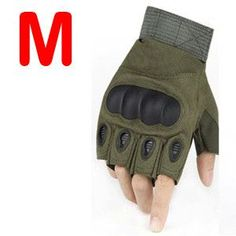 Blackhawk Hell Storm Carbon Knuckle Half Fingerless Gloves - 3 Colors - L - XL
