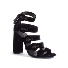 Tommy Hilfiger Runway Collection Velvet Heeled Sandal, $390; tommy.com