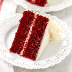 This is my favorite Red Velvet Cake recipe! This cake is incredibly soft, moist, buttery, and topped with an easy cream cheese frosting. Homemade Red Velvet Cake, Easy Red Velvet Cake, Red Velvet Recipes, Southern Living Red Velvet Cake Recipe, Cupcakes, Cupcake Cakes, Cake Cookies, Cake Recipes, Dessert Recipes