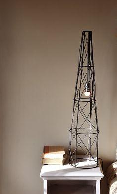 DIY industrial style lamp