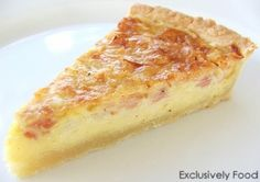 Exclusively Food: Quiche with Cream Cheese Pastry... Anyone can make quiche but this is the quickest, easiest, non-blind bake pastry ever!