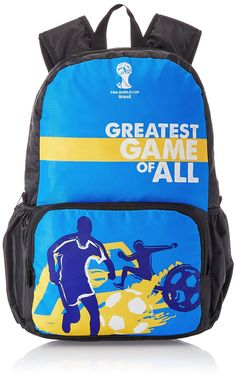 Buy Online Brazil Blue Unisex Casual Backpack From Fifa @ Rs 625