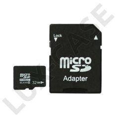 32GB MicroSDHC Minneskort med SD-Adapter