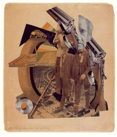 Hannah Höch - was a German Dada artist. She is best known for her work of the Weimar period, when she was one of the originators of photomontage. In this image has collaged each picture with its own meaning, creating a landscape envirment and two portraits to tell her narrative.