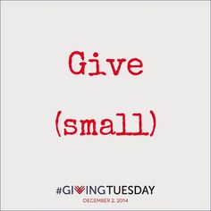 Small charities are like small businesses, they operate with limited resources to serve a larger community. Give your time, funds, items and thanks to small charities this #GivingTuesday. http://lnkd.in/eBvEMnc #givetocharity #holidaygiving #donate #nonprofit