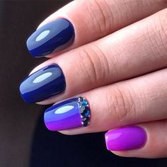 Excellent nails, Insanely beautiful nails, Medium nails, Nail polish for blue dress, Obmre nails, Party nails, Party nails ideas, Spring summer nails 2017