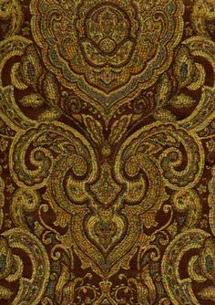 Upholstery Fabrics - Paisley - Bergamot 5747 By Barrow/Merrimac Fabrics