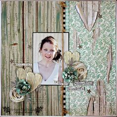 Scrappy Chat Designs: Believe that you are Something Wonderful. Kaisercraft Blue Bay collection