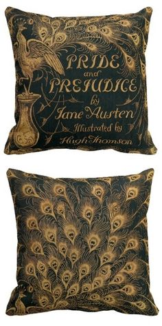 Pride and Prejudice Jane Austen (1894) - Thomson's cover available as a throw pillow!
