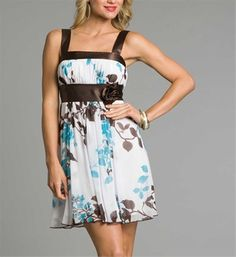 brown white summer dresses 2011