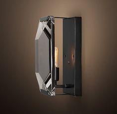 Harlow Crystal Sconce - Grey Iron