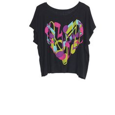 Music Chaos Tee ($20) ❤ liked on Polyvore
