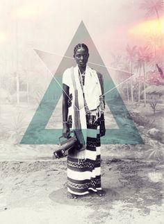 African digital art by Rafa Zubiria http://www.africandigitalart.com/2013/09/unknown-tribe/