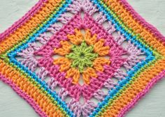 Central Park Granny Square. Those colors are Beautiful!