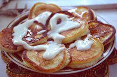 Pancakes on yogurt
