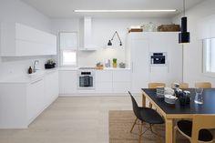 moderni puutalo: Nopea katsaus keittiöön