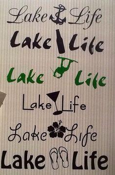 Lake Life Decals - Lake Life Iron on - Custom Lake Life decal - Custom Lake Life Iron On - Custom made - Lake Lover - Custom Decal Fishing Boat Accessories, Golf Quotes, Golf Sayings, Lake Cottage, Lakeside Cottage, Lake Signs, Pontoon Boat, Iron On Vinyl, Lake Life