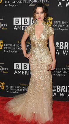 Berenice Marlohe  Oscar de la Renta resort 2013 gown at the annual BAFTA Los Angeles Britannia Awards in Beverly Hills, California.
