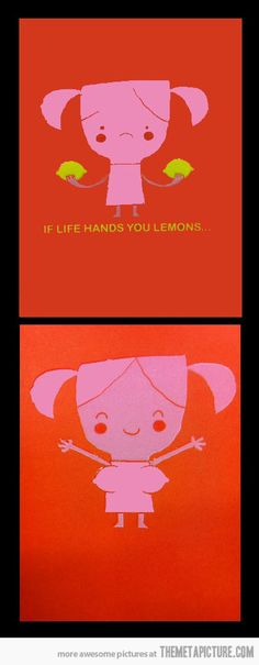 If life hands you lemons… this is hilarious & cute :)