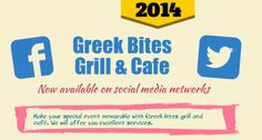 Greek Bites Grill & Cafe is now availabe on social networks including pinterest, facebook, twitter and google plus etc