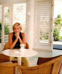 Princess Diana @ Necker's Island  Richard Branson's Caribbean Island