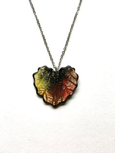 Small Multi-Colored Ceramic Leaf Heart by AlainaSheenDesigns