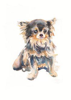 Custom Pet Portrait - Original Art -10x8in - Watercolor Painting - Art - Dogs $55