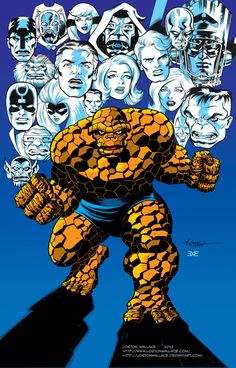 #Thing #Fan #Art. (Thing Collage Colors 2) By: LostonWallace. (THE * 5 * STÅR * ÅWARD * OF: * AW YEAH, IT'S MAJOR ÅWESOMENESS!!!™) ÅÅÅ+