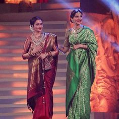 Sonam Kapoor pays tribute to the forever young Rekha at Star Screen Awards! @pinkvilla ❤️ . . #pinkvilla #sonamkapoor #rekha #tribute #sunshine #diva #traditional #gorgeous #beautiful #hot #sexy #style #glam #fashion #actress #instalike #instacomment #instashare #instapic #instaphoto #instagood #instadaily #instamoment