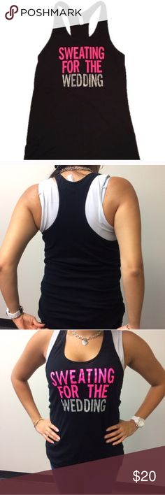 *50% OFF BUNDLES* Sweating For The Wedding Tank Long racer back tank sweating for the wedding! Perfect for the gym getting ready for that special day! Have questions on the size? Ask! I'm happy to provide all measurements! No swaps! Tag is a large but fits like a small American Apparel Tops Tank Tops
