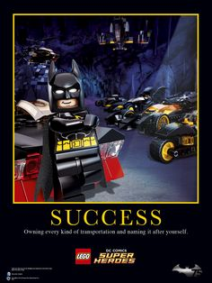 """Owning every kind of transportation and naming it after yourself."" - #LEGOBatman #Batman75 #Batman75thAnniversary #LEGO #Batman #TheLEGOMovie #DCComics"