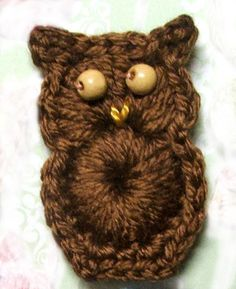 PATTERN - Crochet an Easy Owl Ornament or Applique