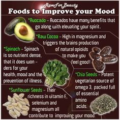 Foods To Improve Your Mood food drinks happiness positive emotions brain mood lifestyle health mental health healthy living healthy lifestyle self improvement self care self help emotional health Get Healthy, Healthy Tips, Healthy Recipes, Healthy Foods, Healthy Habbits, Raw Recipes, Recipes Dinner, Drink Recipes, Recipies
