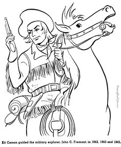 Kit Carson Coloring Pages