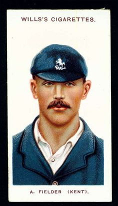 Wills Cigarettes, Cricketers 1908. No8 A.Fielder, Kent & England