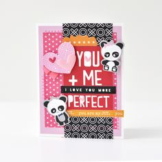 Bella Blvd Oh My Stars Collection | You + Me = Perfect card by Amy Heller