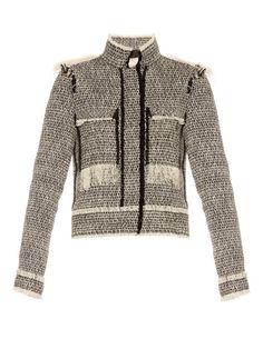 LANVIN Bi-Colour Tweed Jacket. #lanvin #cloth #jacket