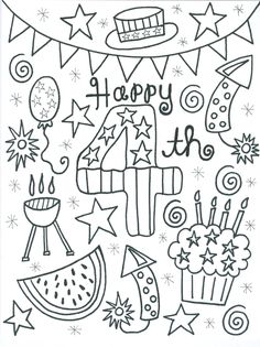 Just in time for a little Fourth of July coloring...  Here is a free download for Summer Series Week 4        Enjoy it!  I would love to se...