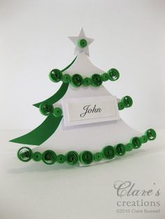 quilled christmas table place cards