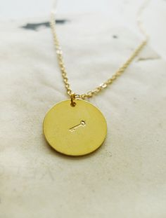 Hand Stamped Tiny Key Charm Necklace (idea for a DIY)